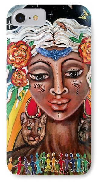 Warriors Of The Rainbow IPhone Case by Maya Telford