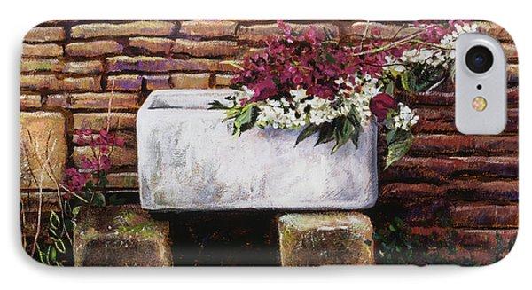 Wash Basin Flowers IPhone Case by David Lloyd Glover