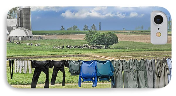 Wash Day In Amish Country IPhone Case
