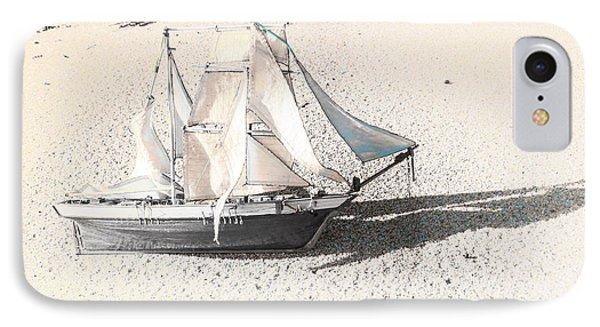 Washed Up Wooden Boat IPhone Case by Jorgo Photography - Wall Art Gallery