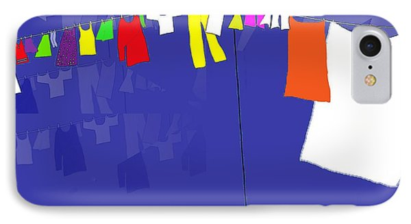 IPhone Case featuring the digital art Washing Line by Barbara Moignard