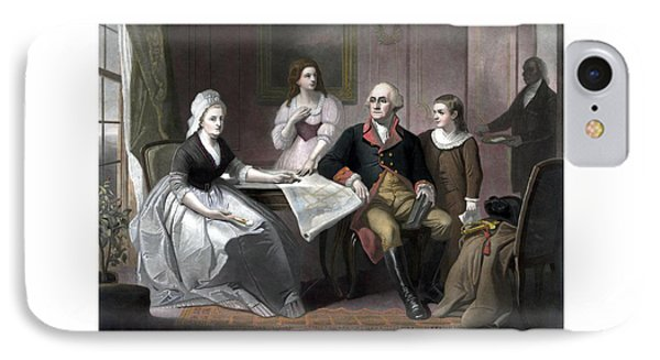 Washington And His Family Phone Case by War Is Hell Store