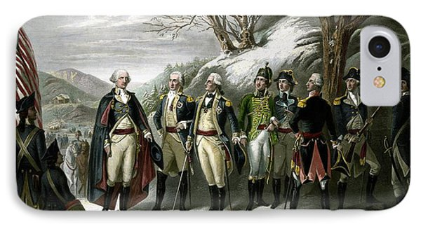 Washington And His Generals  IPhone Case by War Is Hell Store