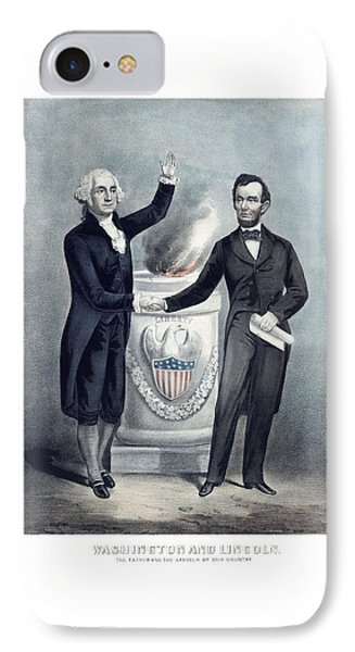 Washington And Lincoln Phone Case by War Is Hell Store