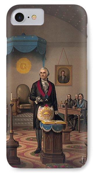 Washington As A Master Mason IPhone Case by American School