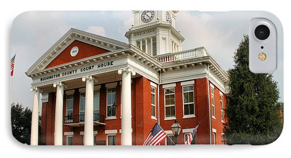 Washington County Courthouse Phone Case by Kristin Elmquist
