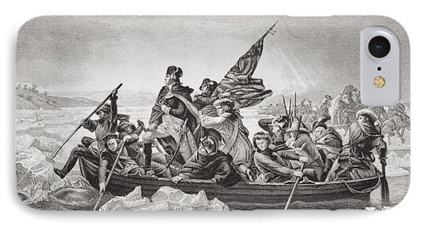 Washington Crossing The Delaware Near IPhone Case by Vintage Design Pics