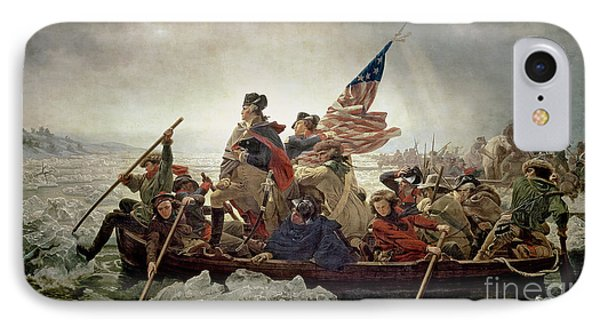 Cross iPhone 7 Case - Washington Crossing The Delaware River by Emanuel Gottlieb Leutze