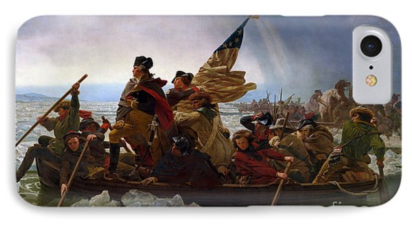 Washington Crossing The Delaware River IPhone Case by Emmanuel Gottlieb Leutze