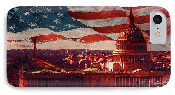Washington Dc Building 76h IPhone Case by Gull G