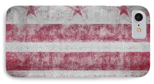 IPhone 7 Case featuring the digital art Washington Dc City Flag by JC Findley