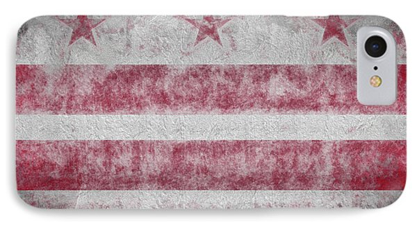 IPhone Case featuring the digital art Washington Dc City Flag by JC Findley