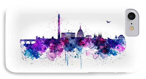 Washington Dc Skyline IPhone Case by Marian Voicu