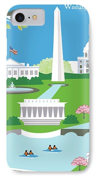 Washington, D.c. Vertical Skyline IPhone Case by Karen Young