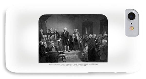 Washington Delivering His Inaugural Address IPhone Case by War Is Hell Store
