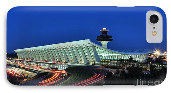 Washington Dulles International Airport At Dusk IPhone Case by Paul Fearn