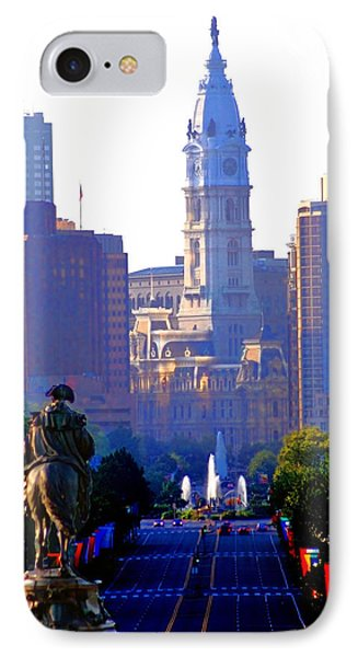 Washington Looking Over To City Hall IPhone Case by Bill Cannon