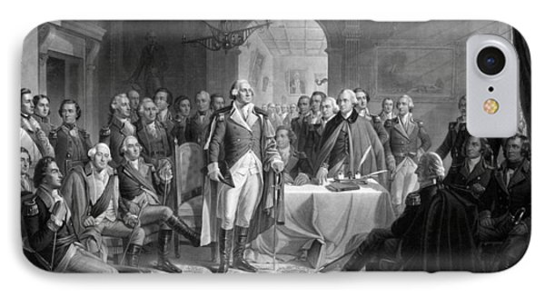 Washington Meeting His Generals IPhone Case by War Is Hell Store