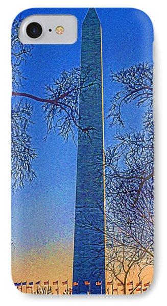 Washington Monument Phone Case by Dennis Cox WorldViews