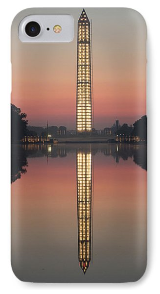 Washington Monument In The Morning Light IPhone Case by Ed Clark