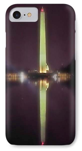 IPhone Case featuring the photograph Washington Monument by Lorella Schoales