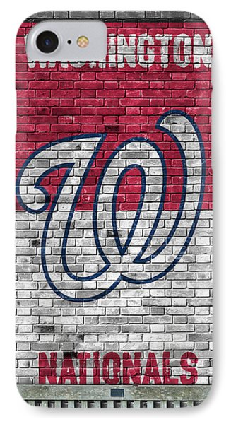 Washington Nationals Brick Wall IPhone Case by Joe Hamilton