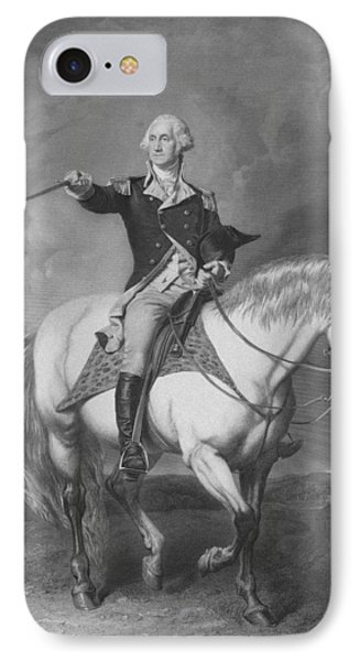 Washington Receiving A Salute At Trenton Phone Case by War Is Hell Store