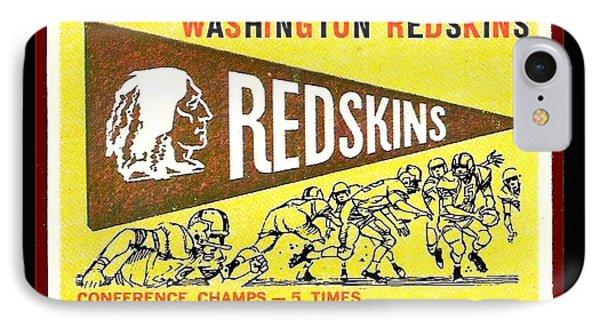 Washington Redskins 1959 Pennant Card Phone Case by Paul Van Scott