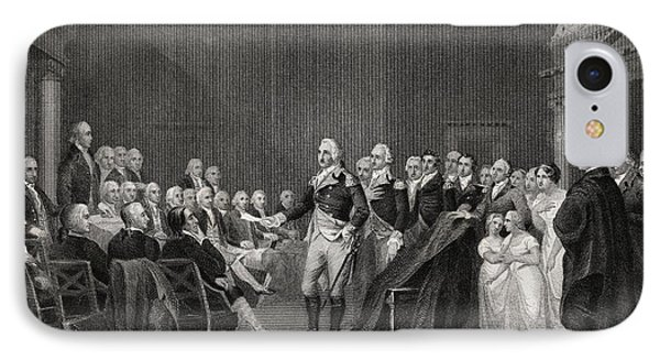 Washington Resigning His Commission At IPhone Case by Vintage Design Pics