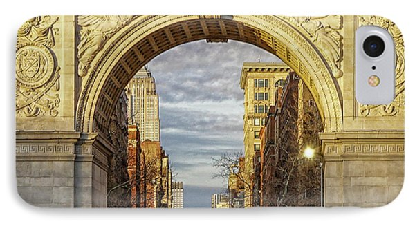 Washington Square Golden Arch IPhone Case by Jeffrey Friedkin
