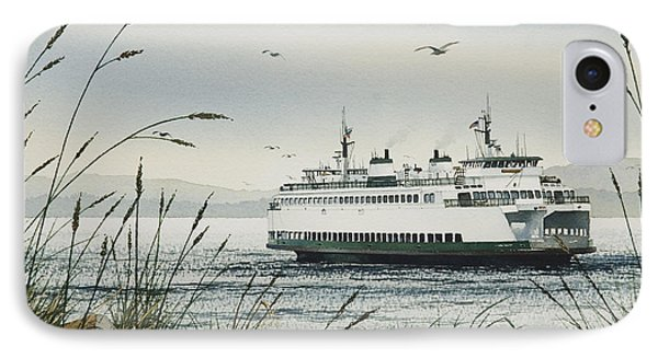 Washington State Ferry IPhone Case by James Williamson