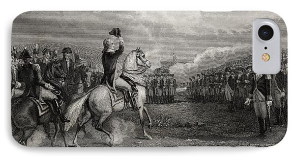 Washington Taking Command Of The Army IPhone Case by Vintage Design Pics