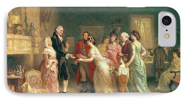 Washingtons Birthday Phone Case by Jean Leon Jerome Ferris