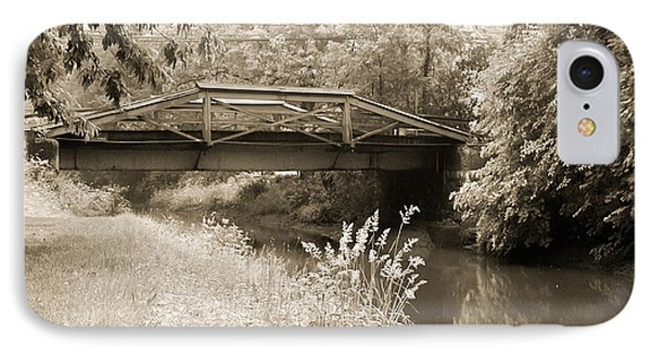 Washington's Crossing Pa - Route 532 Bridge Over The Delaware Ca IPhone Case by Bill Cannon