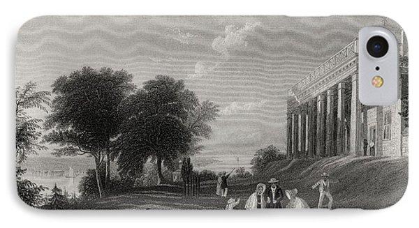 Washingtons House Mount Vernon Usa IPhone Case by Vintage Design Pics