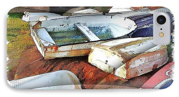 Wat-0012 Tender Boats IPhone Case by Digital Oil
