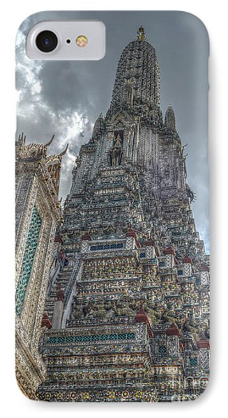 Wat Arun IPhone Case by Michelle Meenawong
