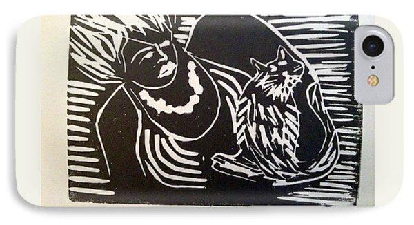 Watch Cat IPhone Case by Toby Finkelstein