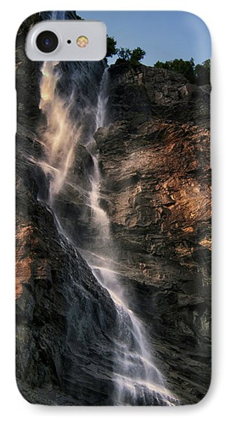 Geirangerfjord Waterfall IPhone Case by Jim Hill