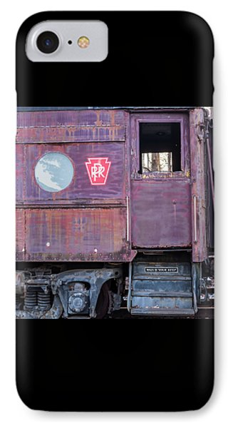 Watch Your Step Vintage Railroad Car IPhone Case by Terry DeLuco