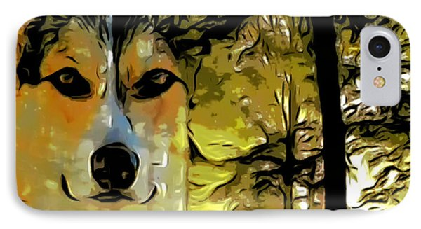 IPhone Case featuring the digital art Watcher Of The Woods by Kathy Kelly