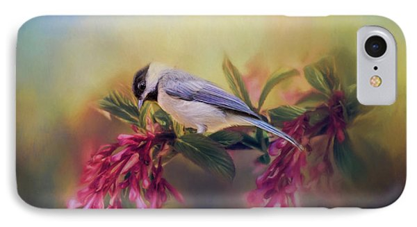Watching Flowers Bloom Bird Art IPhone Case by Jai Johnson