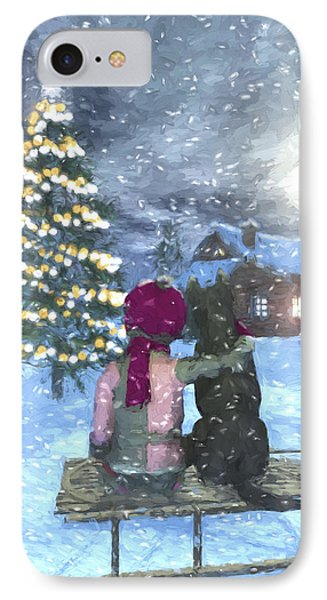 Watching For Santa IPhone Case by Jayne Wilson
