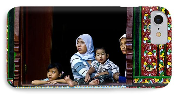 Watching From A Window Phone Case by Charuhas Images