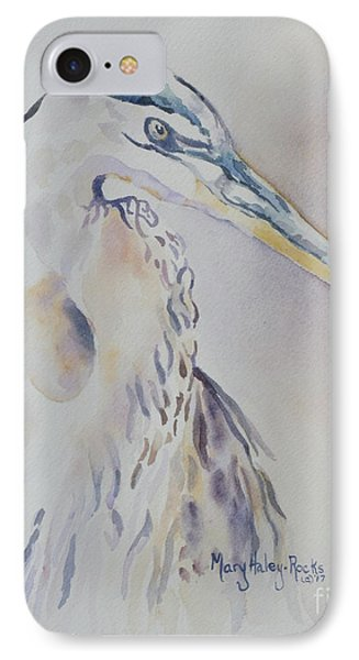 IPhone Case featuring the painting Watching by Mary Haley-Rocks