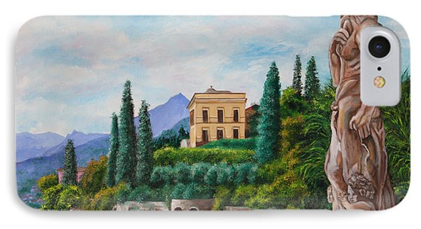 Watching Over Lake Como Phone Case by Charlotte Blanchard