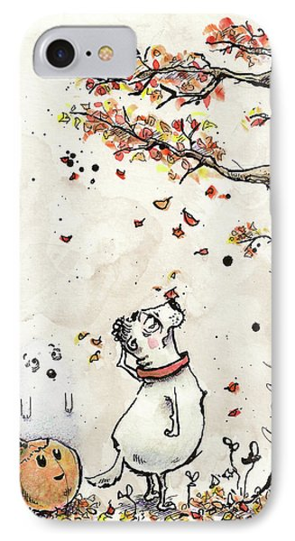 Watching The Leaves Fall IPhone Case by Connor Reed Crank