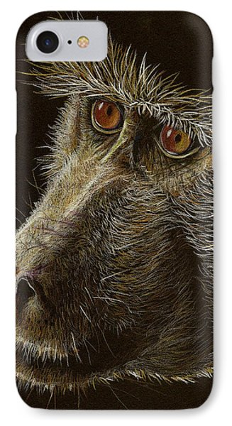 IPhone Case featuring the drawing Watching You by Heidi Kriel