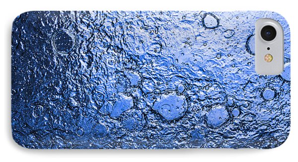 Water Abstraction - Blue Rain Phone Case by Alex Potemkin