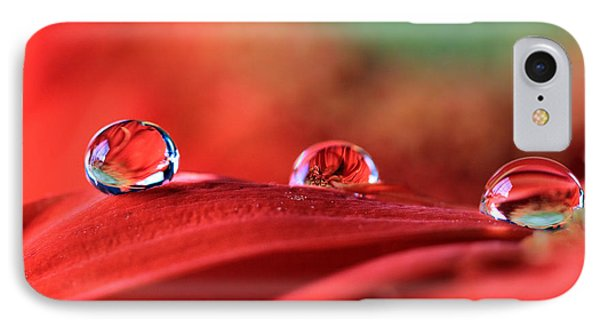 Water Drop Reflections IPhone Case by Angela Murdock